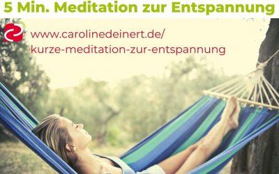 Kurze Meditation zur entspannung